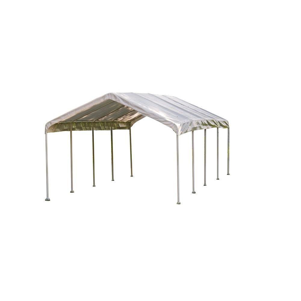 Super Max 12 x 26 White Premium Canopy 25770 Canada Discount