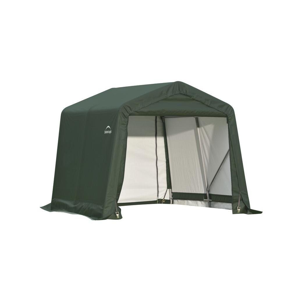 Peak Shed Storage Green Shelter - 8 Feet x 16 Feet x 8 Feet 71824 Canada Discount