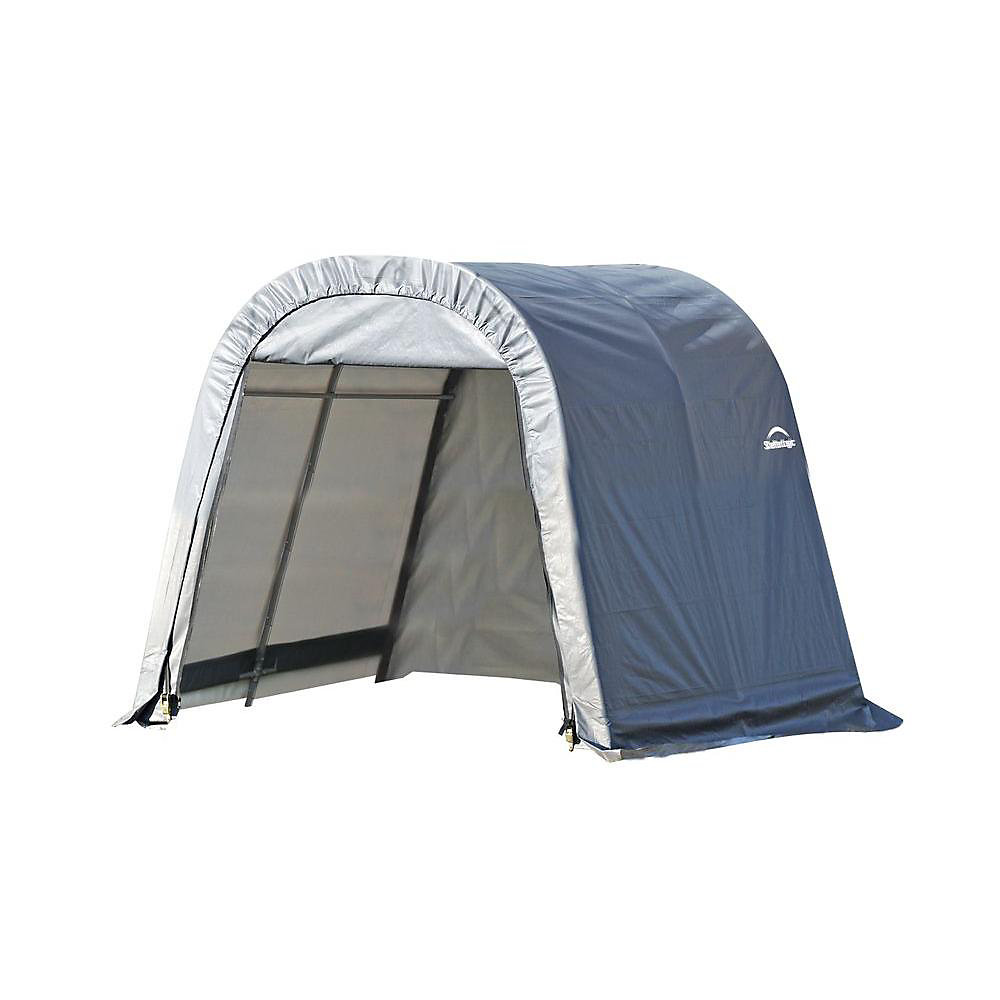 10 ft. x 8 ft. x 8 ft. Round Style Shelter with Grey Cover