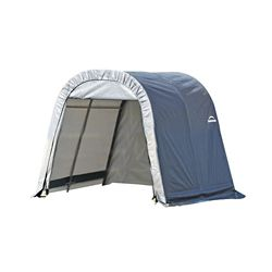 ShelterLogic 10 ft. x 8 ft. x 8 ft. Round Style Shelter with Grey Cover