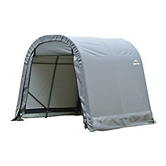 RoundTop 8 ft. x 12 ft. x 8 ft. Shed Storage Shelter in Grey