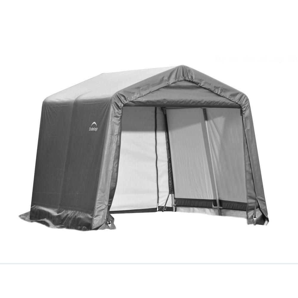 Peak Style Grey Cover Shelter - 10 x 12 x 8 Feet 72813 Canada Discount