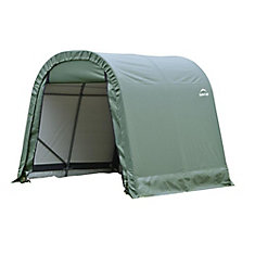 RoundTop 8 ft. x 16 ft. x 8 ft. Shed Storage Shelter in Green