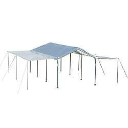 ShelterLogic 10 ft. x 20 ft. White Canopy with Extension Kit