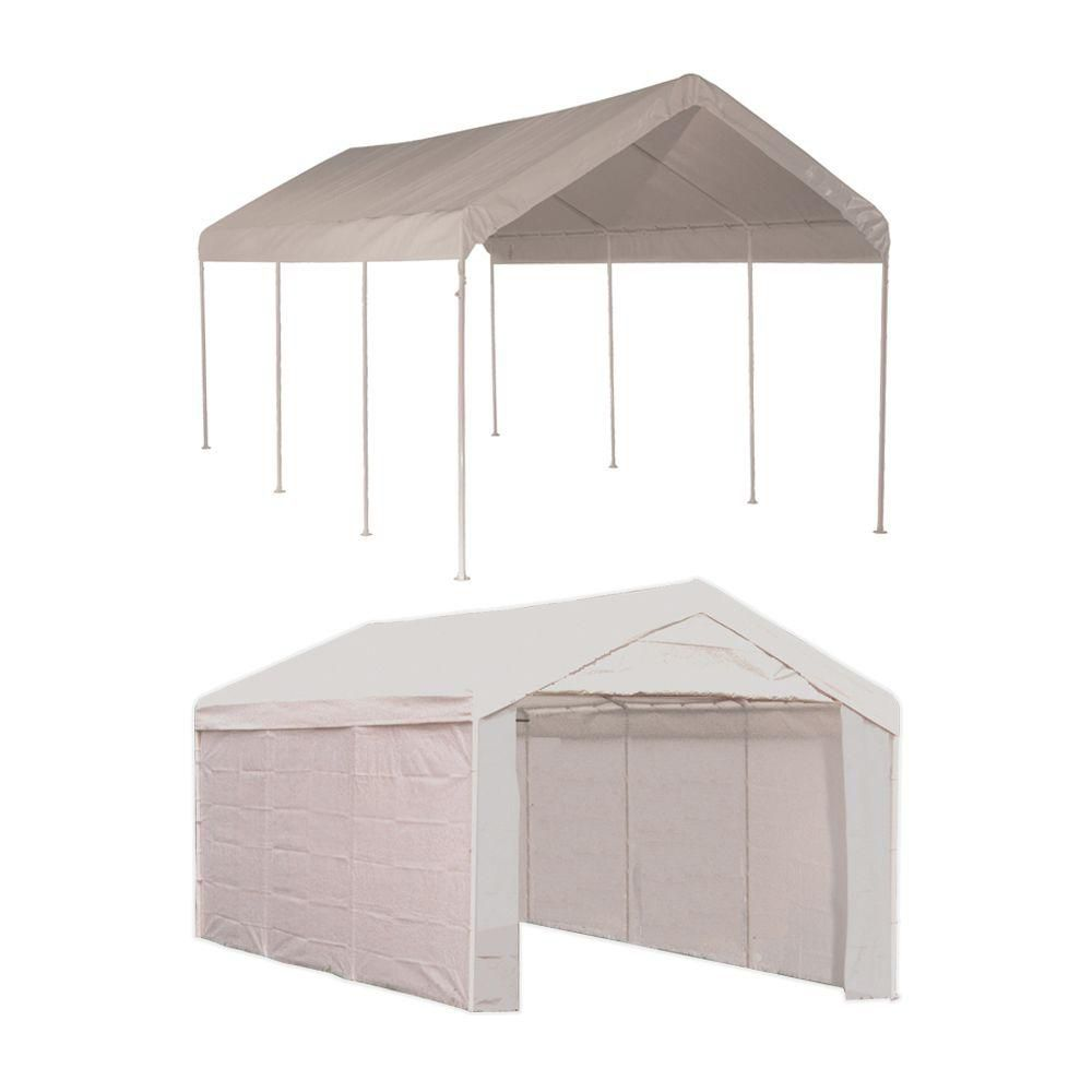10 x 20 Canopy 1-3/8 in. 4-Rib Frame White Cover Enclosure Kit