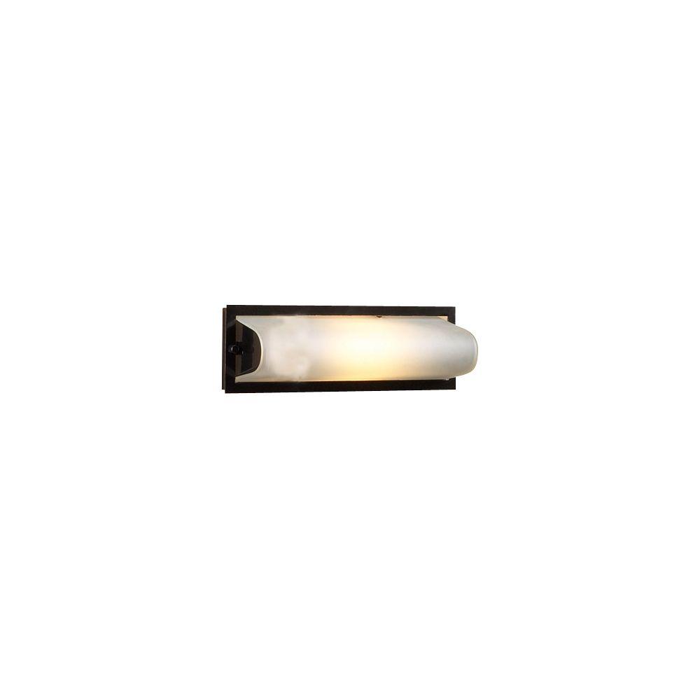 1 Light Bath Light with Satin Nickel Glass and Satin Nickel Finish