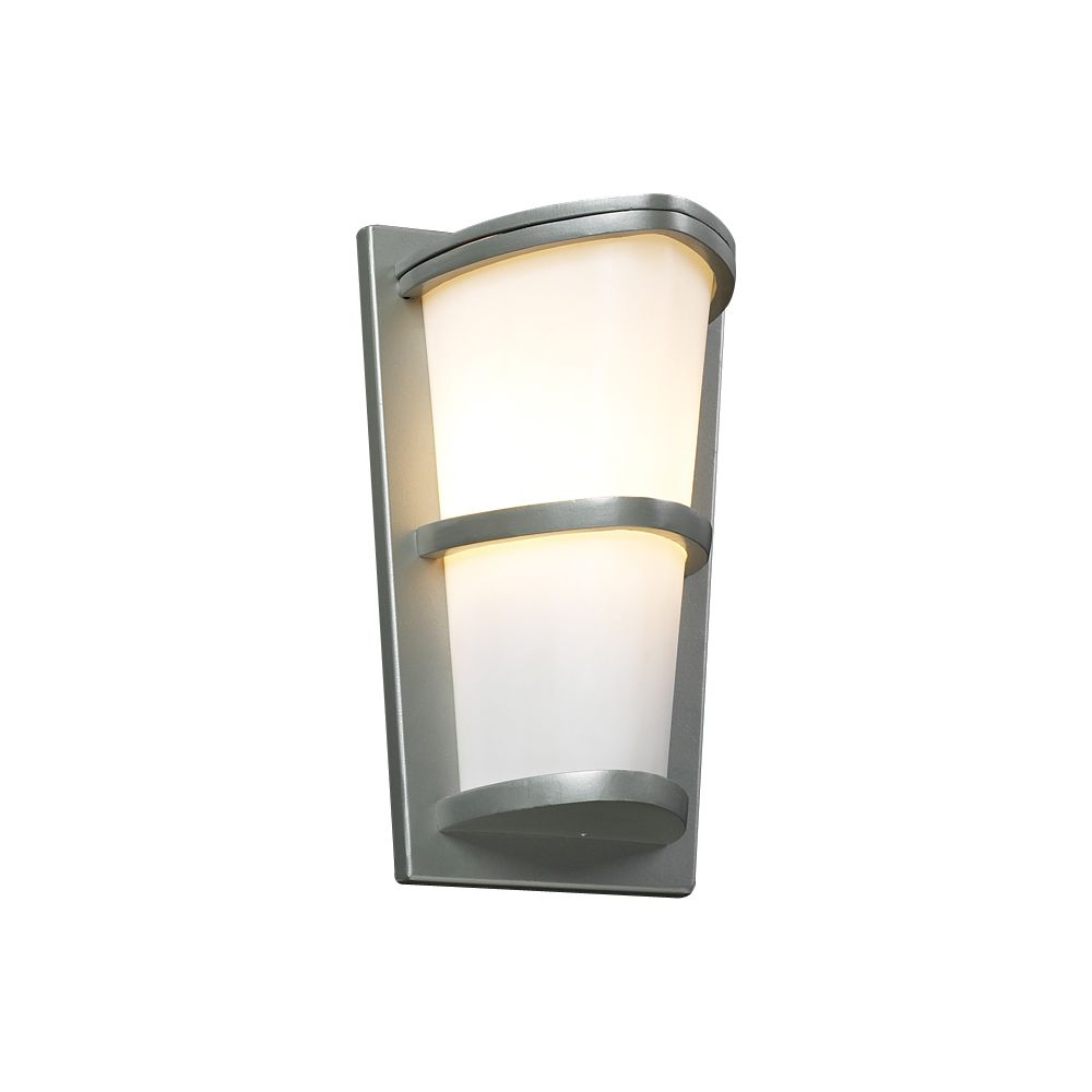 1 Light Outdoor Wall Sconce with Matte Opal Glass and Slate Finish CLI-HD1205582 Canada Discount