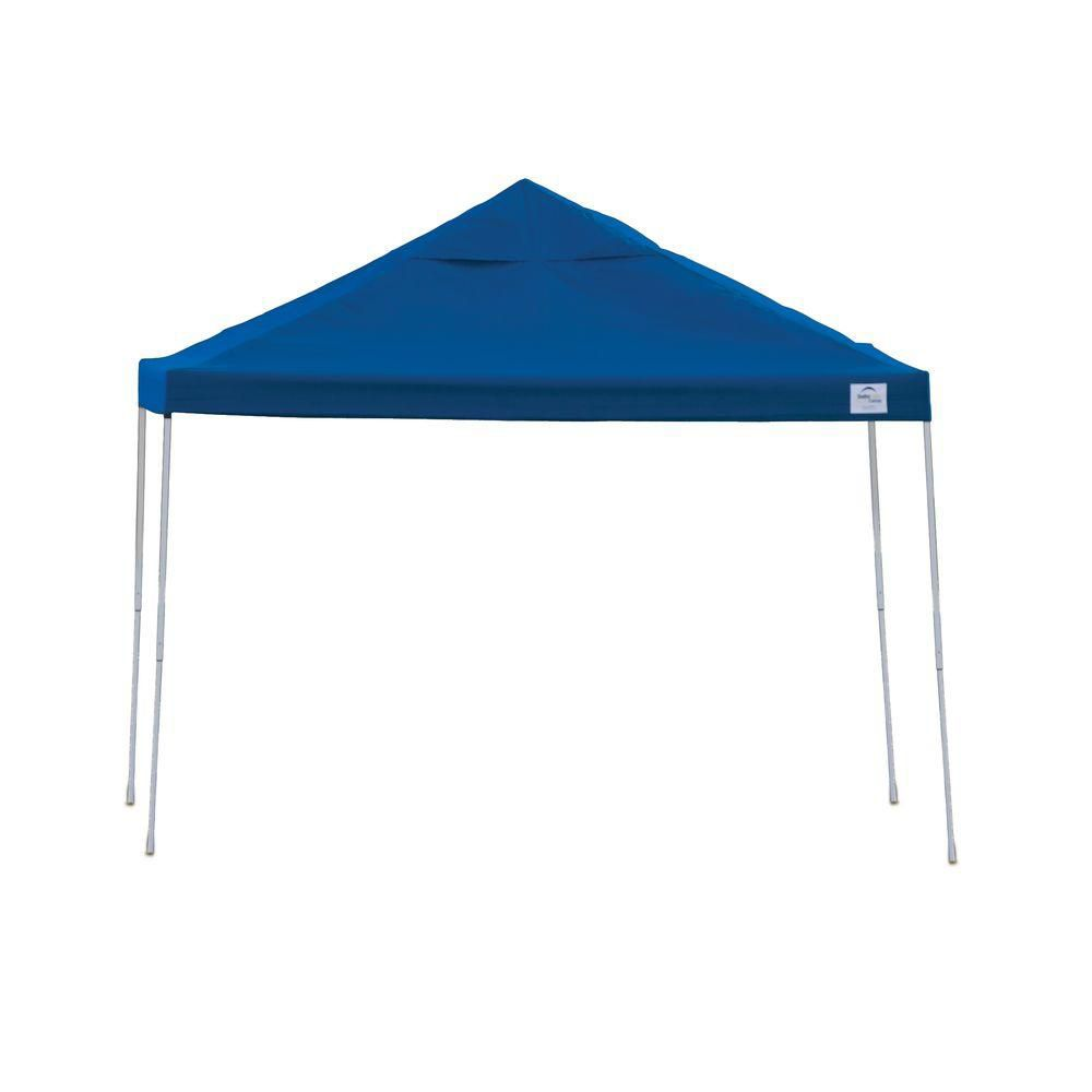 Pro Pop-Up Canopy, 12 x 12, Straight Leg, Blue Cover with Storage Bag