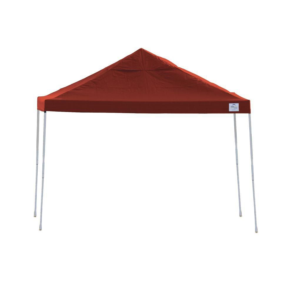 12x12 Straight Leg Pop-Up Canopy, Red Cover, Black Roller Bag 22539 Canada Discount