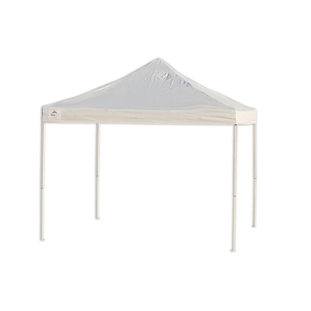 Pro 10 x 10 White Truss Top Straight Leg Pop-Up Canopy 22596 Canada Discount