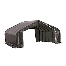 22 ft. x 24 ft. x 13 ft. Peak Style Shelter with Grey Cover