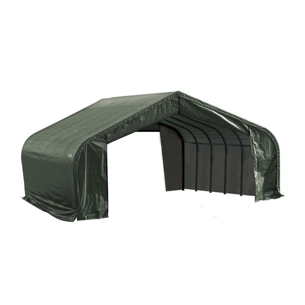 Green Cover Peak Style Shelter - 22 Feet x 24 Feet x 11 Feet
