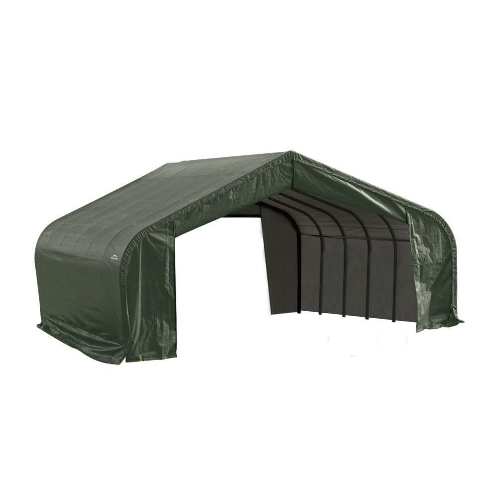 Green Cover Peak Style Shelter - 22 Feet x 20 Feet x 13 Feet 82044 in Canada