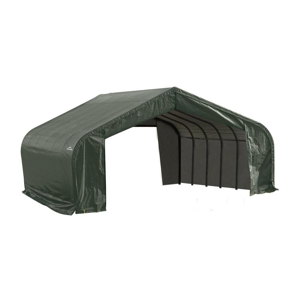 Green Cover Peak Style Shelter - 22 Feet x 28 Feet x 13 Feet