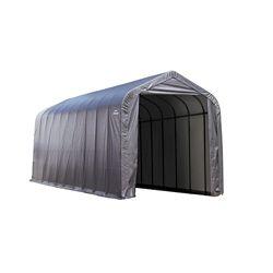 ShelterLogic 15 ft. x 20 ft. x 12 ft. Peak Style Shelter with Grey Cover
