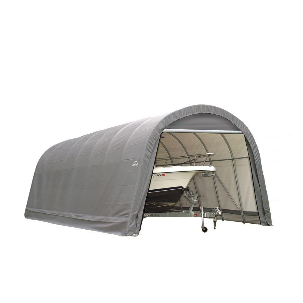 Green Cover Round Style Shelter - 14 x 28 x 12 Feet