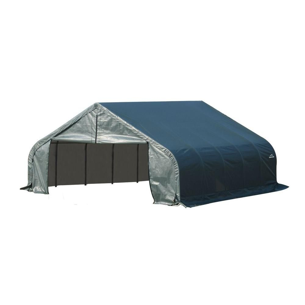 22 ft. x 20 ft. x 11 ft. Peak Style Shelter with Green Cover