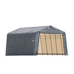 ShelterLogic 13 ft. x 28 ft. x 10 ft. Peak Style Shelter with Grey Cover