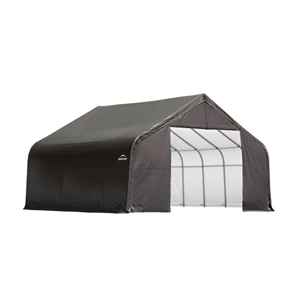 Grey Cover Peak Style Shelter - 26 x 20 x 12 Feet 84023 Canada Discount