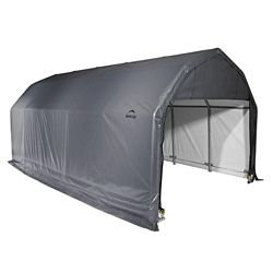 ShelterLogic 12 ft. x 28 ft. x 9 ft. Barn Shelter with Grey Cover