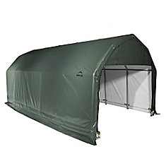 12 ft. x 24 ft. x 9 ft. Cover Barn Shelter in Green