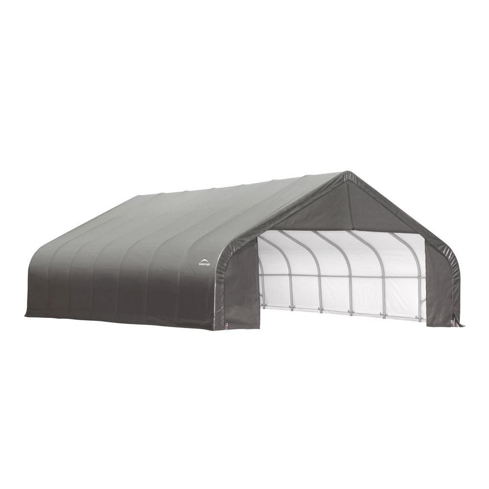 30 ft. x 24 ft. x 20 ft. Peak Style Shelter with Grey Cover