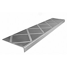 Composite Anti-Slip Stair Tread 48 inch Grey Step Cover