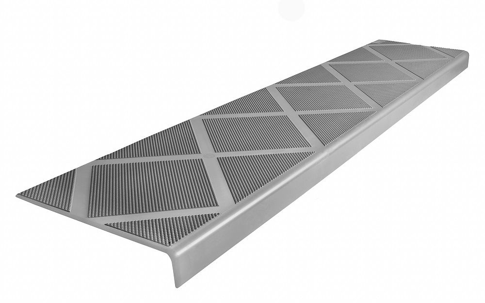Composite Anti Slip Stair Tread 48 Inch Grey Step Cover
