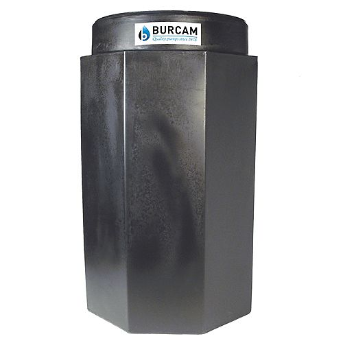 BURCAM 18 x 30 sump basin with lid (Manitoba specifications)