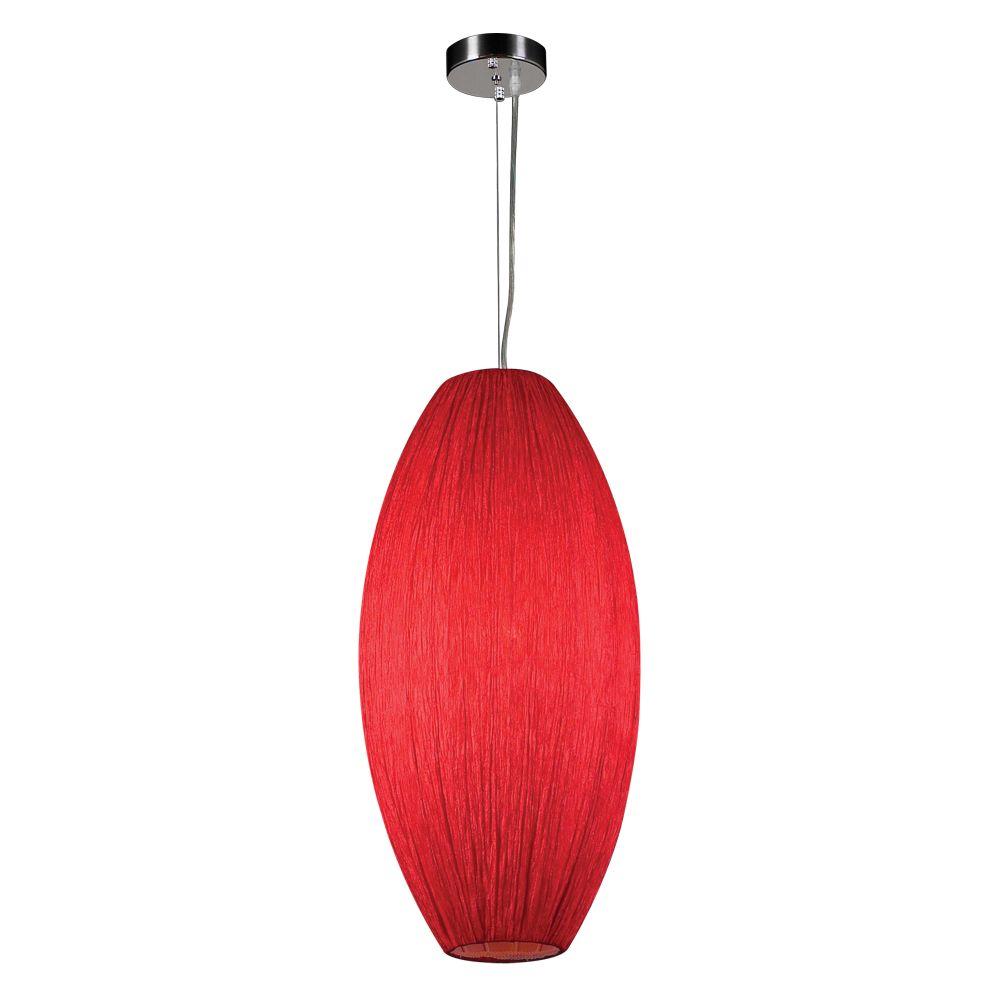 Lustre Contemporary Beauty à une ampoule avec abat-jour de spécialité, finition de spécialité
