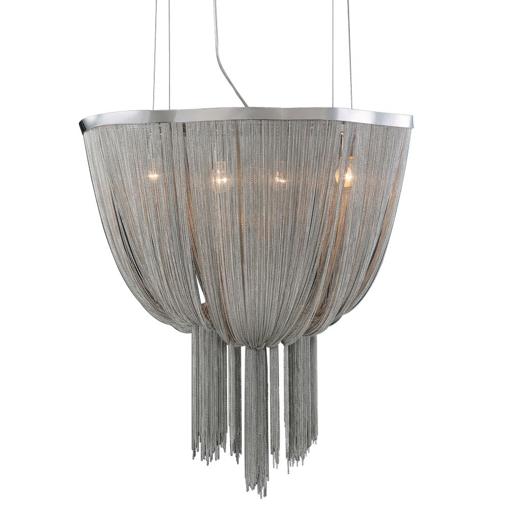 Contemporary Beauty 4 Light Chandelier with and Satin Nickel Finish
