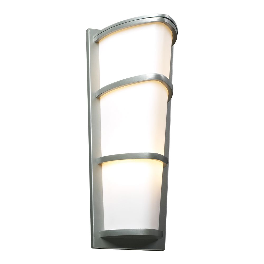 Contemporary Beauty 2 Light Outdoor Wall Sconce with Matte Opal Glass and Slate Finish