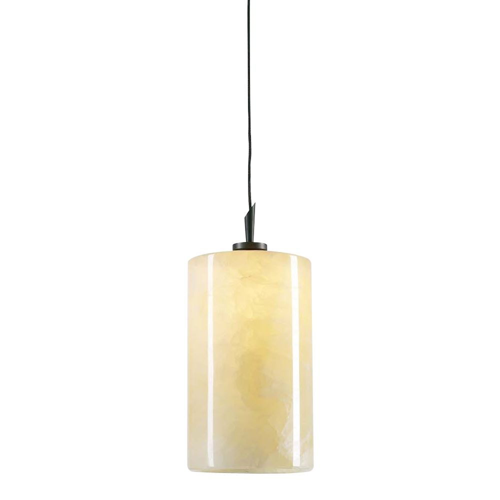 1 Light Mini Pendant with Natural Onyx Finish and Oil Rubbed Bronze Finish