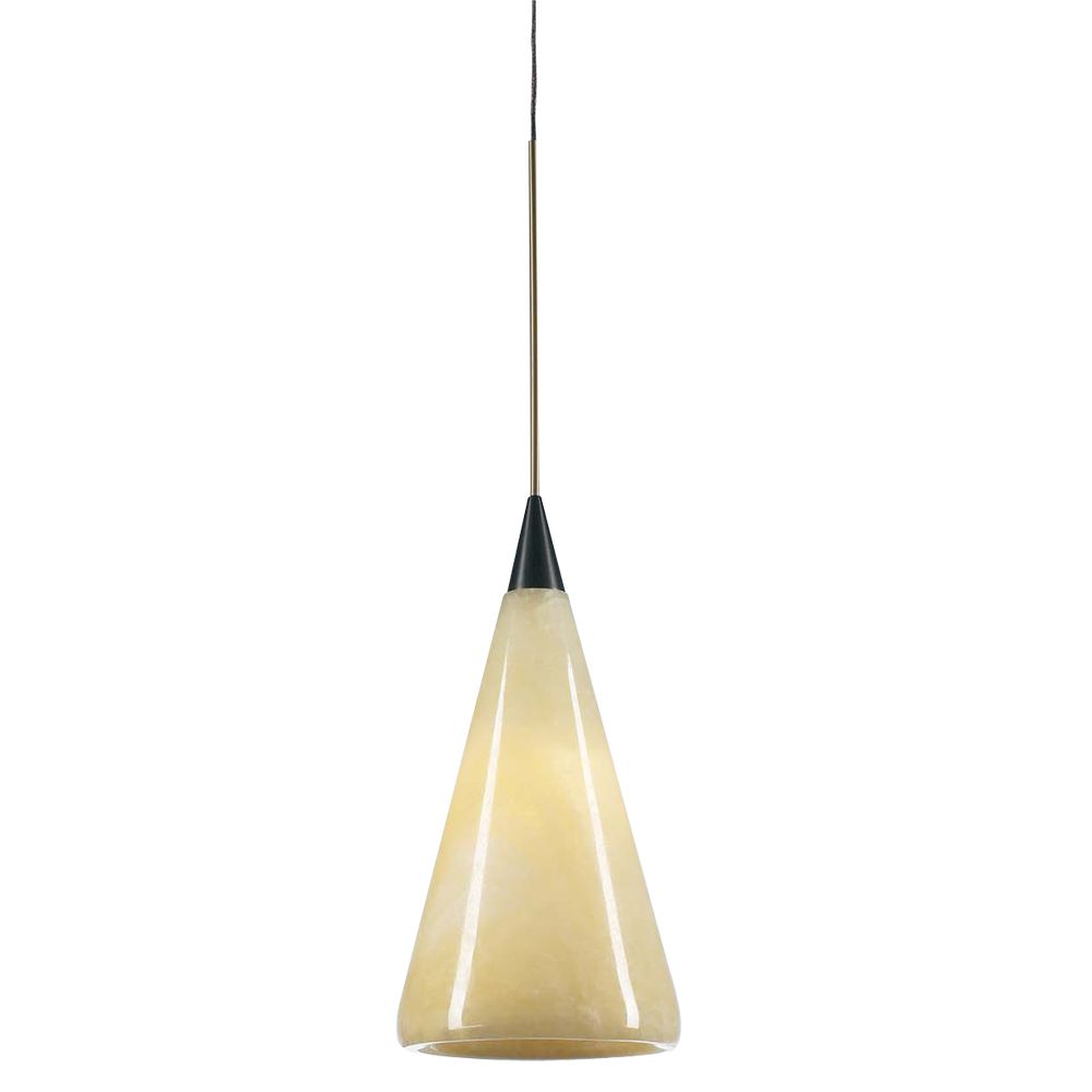 Contemporary Beauty 1 Light Mini Pendant with Natural Onyx Finish and Oil Rubbed Bronze Finish