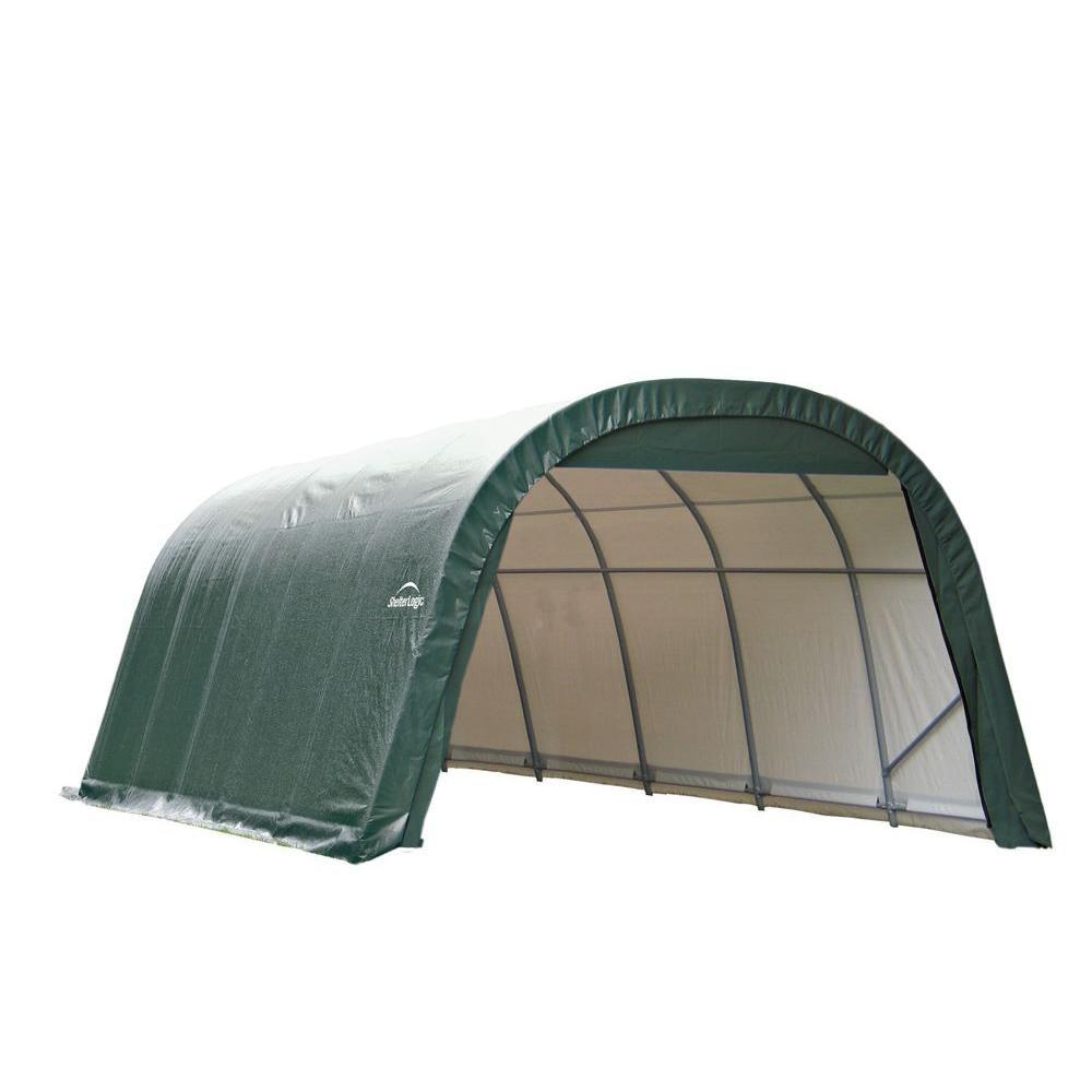 RoundTop Garage Storage Green Shelter - 12 Feet x 24 Feet x 8 Feet 72342 Canada Discount