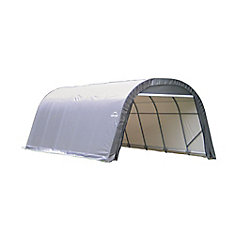 RoundTop 12 ft. x 24 ft. x 8 ft. Garage Storage Shelter in Grey