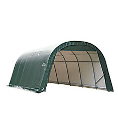 12 ft. x 20 ft. x 8 ft. Round Shelter with Green Cover