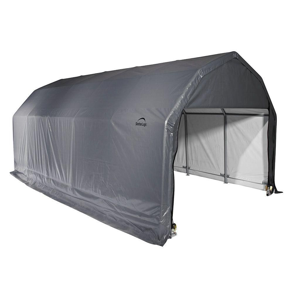 Small Fabric Shelter : Shelterlogic ft compact auto shelter