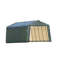 12 ft. x 24 ft. x 8 ft. Peak Style Garage/Storage Shelter in Green