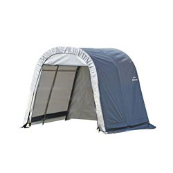 ShelterLogic 11 ft. x 12 ft. x 10 ft. Round Style Shelter with Grey Cover