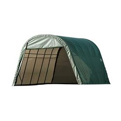 ShelterLogic 13 ft. x 20 ft. x 10 ft. Round Style Shelter with Green Cover