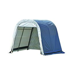 ShelterLogic 11 ft. x 8 ft. x 10 ft. Round Style Shelter with Grey Cover