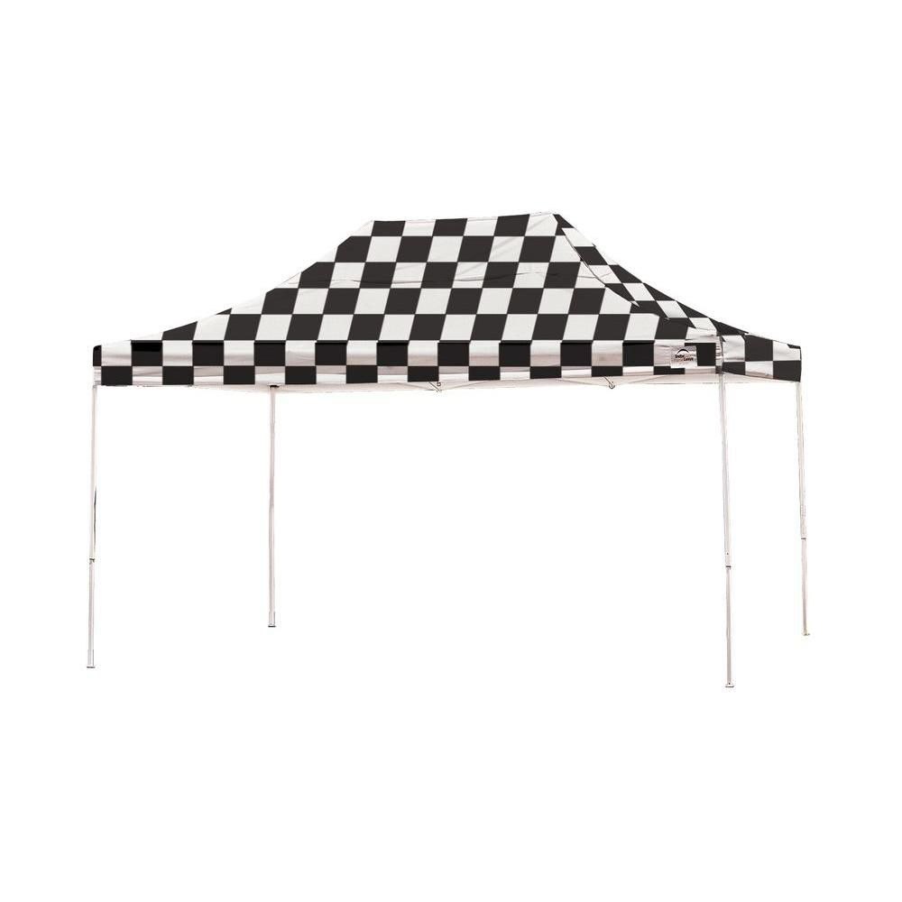 Pro Pop-Up Canopy, 10 x 15, Straight Leg, Checkered Flag Cover with Storage Bag 22555 Canada Discount