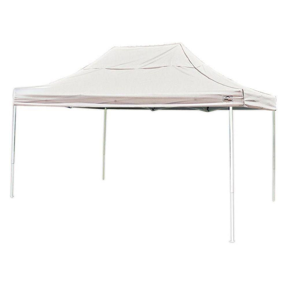10  Feet  x 15  Feet  Pro Pop-up Canopy Straight Leg White Cover