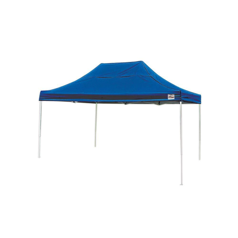 Pro 10 x 15 Blue Straight Leg Pop-Up Canopy