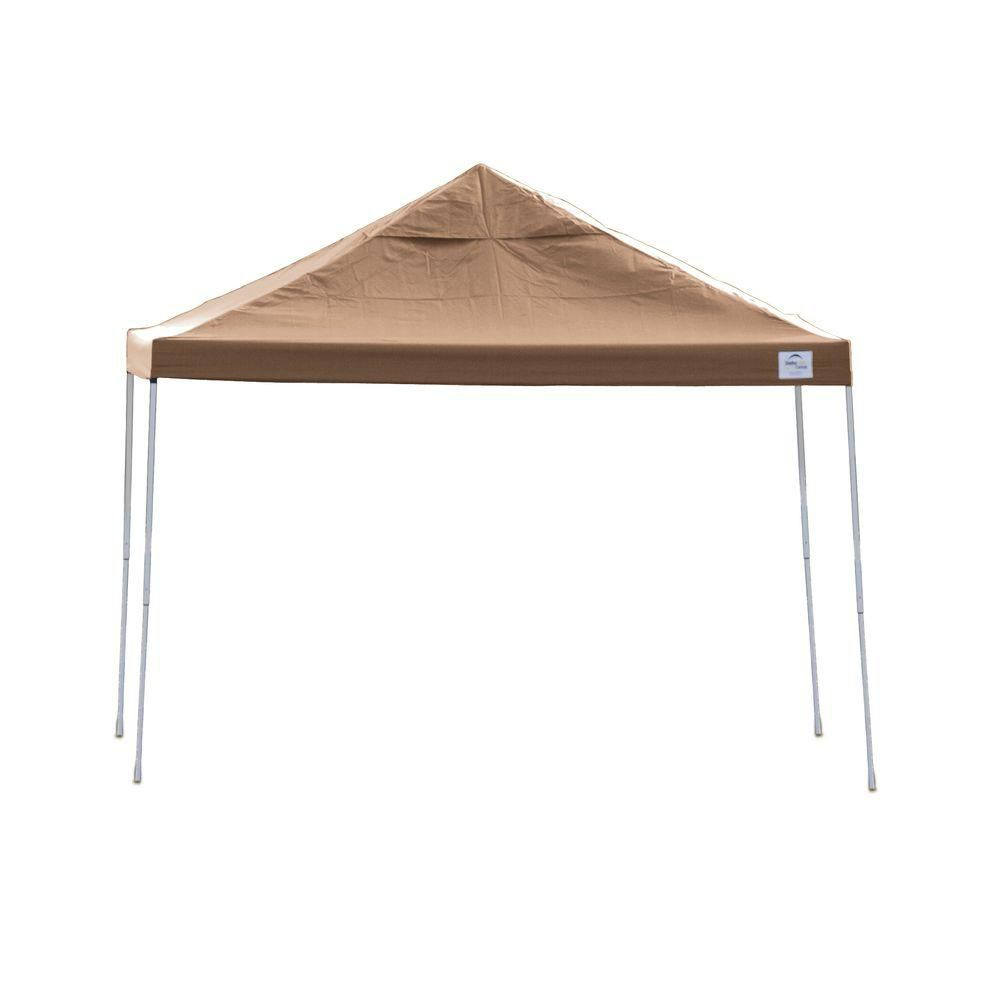 Pro 12x12 Desert Bronze Straight Leg Pop-Up Canopy
