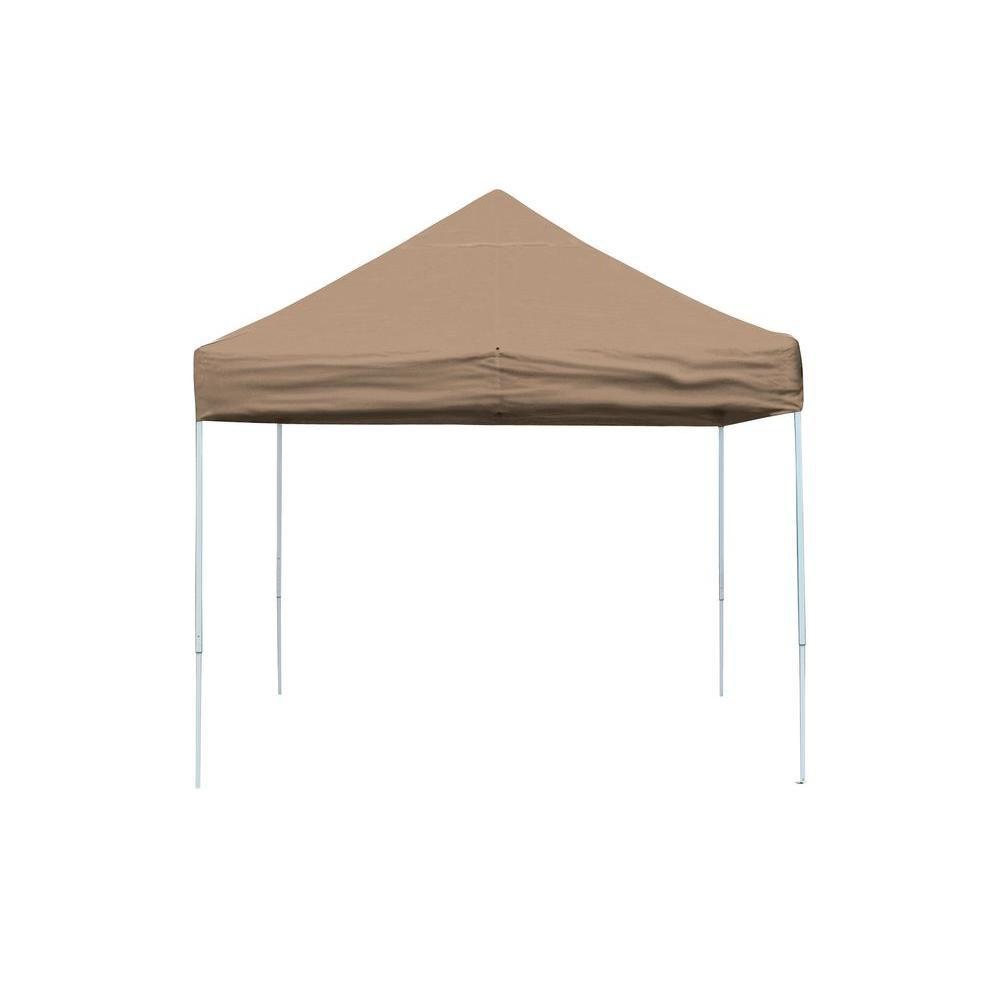 ShelterLogic Pro 10 ft. x 10 ft. Pop-Up Canopy Straight Leg, Desert Bronze Cover with Storage Bag