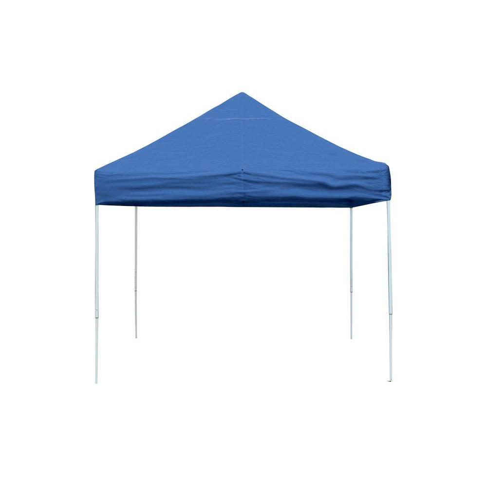 Pro 10 x 10 Blue Straight Leg Pop-Up Canopy