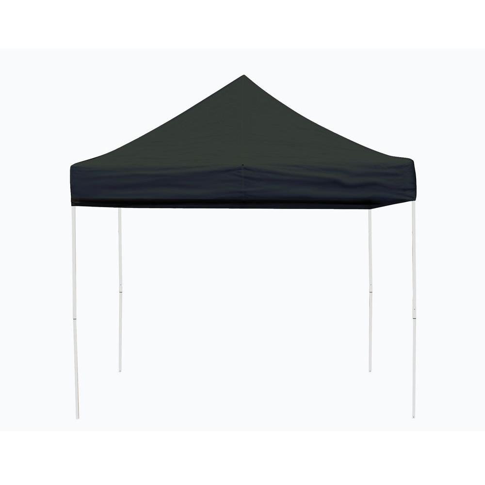 Pro 10 x 10 Black Straight Leg Pop-Up Canopy
