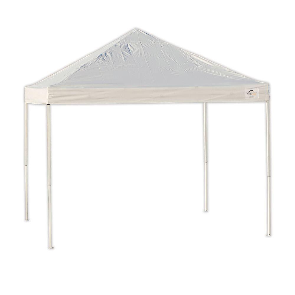 Pro 10 x 10 White Straight Leg Pop-Up Canopy